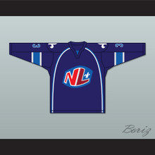 Francois Petel 33 Le National de Quebec Home Hockey Jersey- Lance et compte (He Shoots, He Scores)
