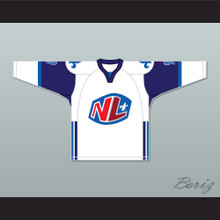 Mike Ludano 9 Le National de Quebec Away Hockey Jersey- Lance et compte (He Shoots, He Scores)