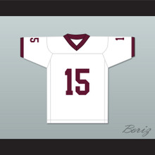Player 15 Bristol Central Rams White Football Jersey Version 1