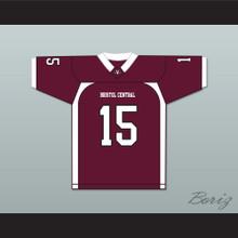 Player 15 Bristol Central Rams Maroon Football Jersey Version 2