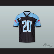 Dallas 20 Home Black Football Jersey