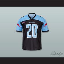 Dallas 20 Home Black Football Jersey