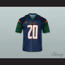 Seattle 20 Home Dark Blue Football Jersey
