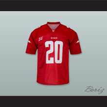 Washington DC 20 Home Red Football Jersey