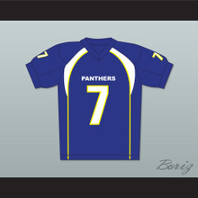 Friday Night Lights Matt Saracen 7 Dillon Panthers Football Jersey Blue