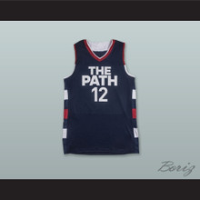 Zion Williamson 12 The Path USA Navy Blue Basketball Jersey