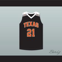 Alex Caruso 21 Texas D1 Ambassadors AAU Black Basketball Jersey 1