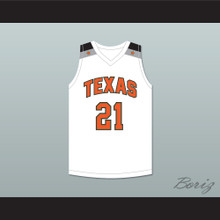 Alex Caruso 21 Texas D1 Ambassadors AAU White Basketball Jersey 1