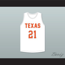 Alex Caruso 21 Texas D1 Ambassadors AAU White Basketball Jersey 2