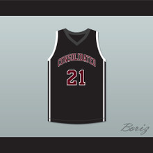 Alex Caruso 21 A&M Consolidated High School Tigers Black Basketball Jersey