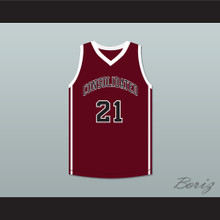 Alex Caruso 21 A&M Consolidated High School Tigers Maroon Basketball Jersey