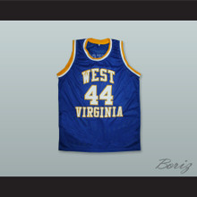 Jerry West 44 West Virginia Blue Basketball Jersey