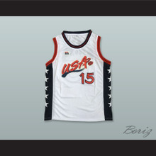1996 Hakeem Olajuwon 15 USA Team Home Basketball Jersey
