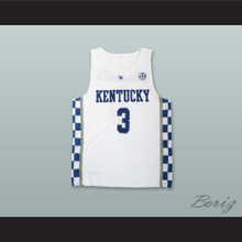 Bam Adebayo 3 Kentucky White Basketball Jersey