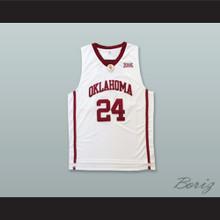 Buddy Hield 24 Oklahoma White Basketball Jersey