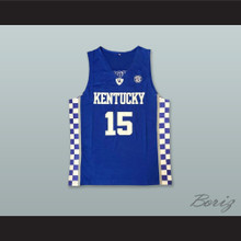 DeMarcus Cousins 15 Kentucky Blue Basketball Jersey