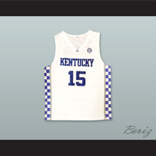 DeMarcus Cousins 15 Kentucky White Basketball Jersey