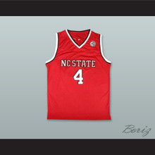 Dennis Smith Jr. 4 NC State Red Basketball Jersey