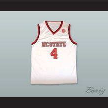 Dennis Smith Jr. 4 NC State White Basketball Jersey