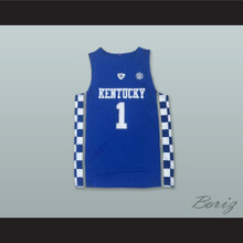 Devin Booker 1 Kentucky Blue Basketball Jersey