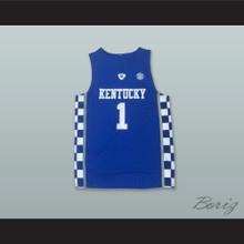 Devin Booker 1 Kentucky Blue Basketball Jersey