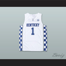 Devin Booker 1 Kentucky White Basketball Jersey