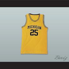 Juwan Howard 25 Michigan Yellow Basketball Jersey
