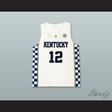 Karl-Anthony Towns 12 Kentucky White Basketball Jersey