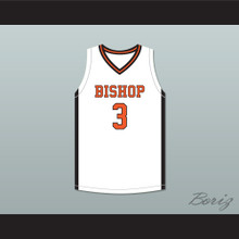 Brandon Durrett 3 Bishop Hayes Tigers White Basketball Jersey The Way Back