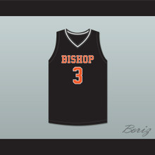Brandon Durrett 3 Bishop Hayes Tigers Black Basketball Jersey The Way Back