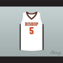 Chubbs Hendricks 5 Bishop Hayes Tigers White Basketball Jersey The Way Back