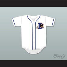 Ebby Calvin Laloosh 37 Durham Bulls Button Down White Baseball Jersey