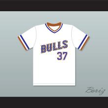 Ebby Calvin Laloosh 37 Durham Bulls White Baseball Jersey 1