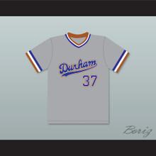 Ebby Calvin Laloosh 37 Durham Bulls Gray Baseball Jersey 2