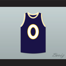LL Cool J 0 Monstars Dark Blue Basketball Jersey Hit Em High