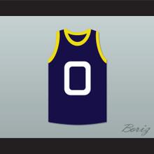Bupkus 0 Monstars Dark Blue Basketball Jersey Space Jam