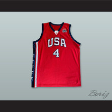 Allen Iverson 4 USA Red Basketball Jersey