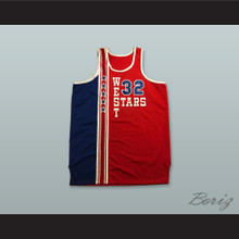 Bill Walton 32 All Star West Red Basketball Jersey