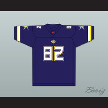 Quincy Jackson 82 Birmingham Thunderbolts Home Football Jersey