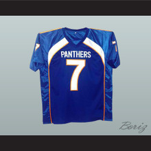 Friday Night Lights Matt Saracen 7 Dillon Panthers Football Jersey Blue New