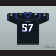 Ron 'Big Merck' Merkerson 57 New York-New Jersey Hitmen Home Football Jersey