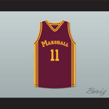 Arthur Agee 11 John Marshall Metropolitan High School Commandos Maroon Basketball Jersey