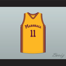 Arthur Agee 11 John Marshall Metropolitan High School Commandos Yellow Basketball Jersey