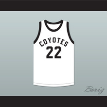 Player 22 Williston High School Coyotes White Basketball Jersey