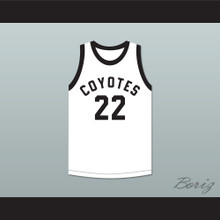 Phil Jackson 22 Williston High School Coyotes White Basketball Jersey