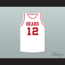 Michael Jordan 12 Emma B Trask Middle School Bears White Basketball Jersey 2