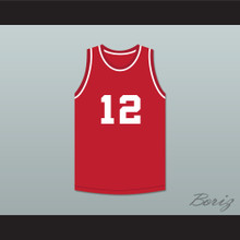 Michael Jordan 12 Emma B Trask Middle School Bears Red Basketball Jersey 1