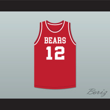 Michael Jordan 12 Emma B Trask Middle School Bears Red Basketball Jersey 2