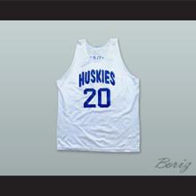 Amar'e Stoudemire 20 Toronto Huskies White Basketball Jersey
