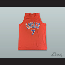 Ben Gordon 7 Chicago Stags Red Basketball Jersey